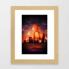 King of monster Framed Art Print