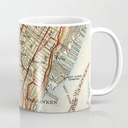 Weehawken, Union City & West New York Map (1935) Coffee Mug