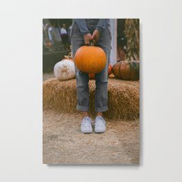 Her Pumpkin (Color) Metal Print