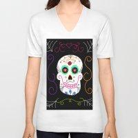 selena gomez V-neck T-shirts featuring Gomez by Designs By Misty Blue (Misty Lemons)