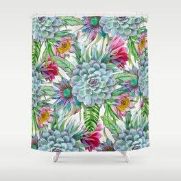 Exotic flower garden Shower Curtain