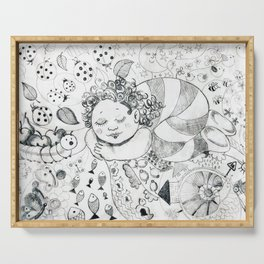Sweet Dreams by Ines Zgonc Serving Tray