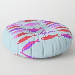 Colorful fish school pattern Floor Pillow