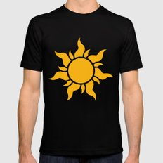 Tangled Rapunzel Sun Logo - Corona Symbol LARGE Black Mens Fitted Tee