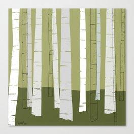 Quiet Birches Canvas Print