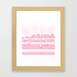 Pink Strawberry Birthday Cake Framed Art Print