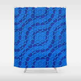 Pattern Over Pattern Shower Curtain