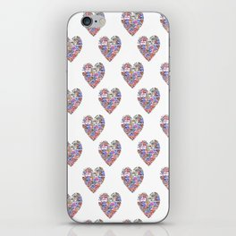 True Love, Passport Stamp Heart iPhone Skin
