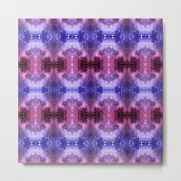 Beautiful Blaue Pink Space Pattern Metal Print