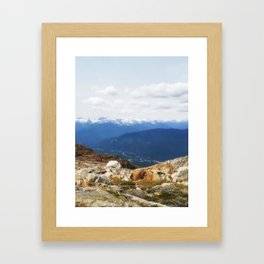 Many layers of a mountain view Framed Art Print