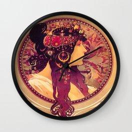 Alphonse Mucha, Art Nouveau Wall Clock