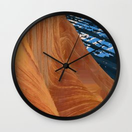 landscape collage #28 Wall Clock