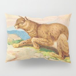 Lynx from the Quadrupeds series for A&G 1890 // Colorful Animal Painting Detailed Dots Pillow Sham