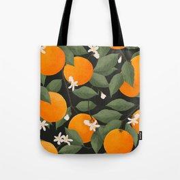 fresh citrus // dark Tote Bag