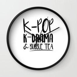 Kpop Kdrama Bubble Tea Wall Clock