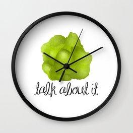 Lettuce Talk About It Wall Clock