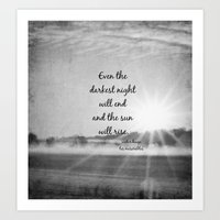 les miserables Art Prints featuring Les Miserables Quote Victor Hugo by KimberosePhotography