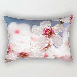 Blossom of the almond tree Rectangular Pillow