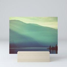 Summer at the Lake Turquoise Mini Art Print