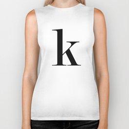 """Monogram Series Letter """"K""""  Biker Tank"""