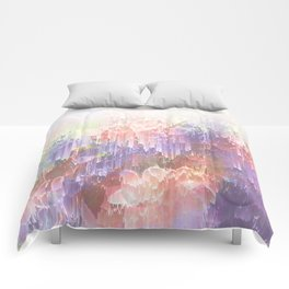 Frozen Magical Nature - Peach and Ultra-Violet Comforters