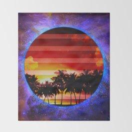 Synthwave Poster v.1 Throw Blanket