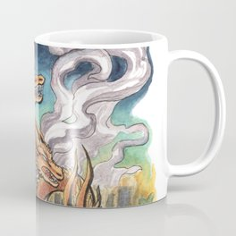 Three Headed Chrysanthemum Dragon Coffee Mug