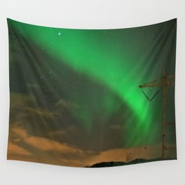 Northern Lights over Norway: Part 2 Wall Tapestry