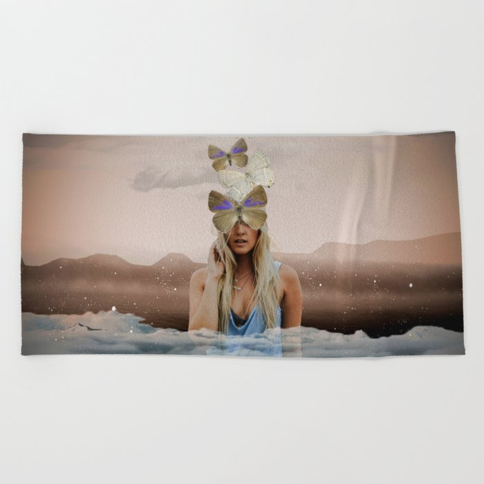 Butterfly Face Beach Towel