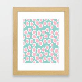 Hayden - abstract trendy gender neutral colorful bright happy dorm college decor pattern print art Framed Art Print
