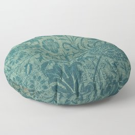 art Nouveau,teal,William Morris style, floral,chic,elegant,modern,trending,victorian decor,floral pa Floor Pillow