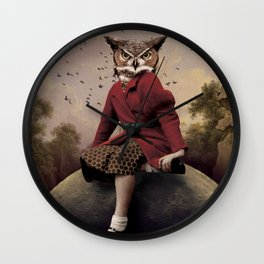 Owl Girl Wall Clock