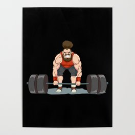 Weightlifting   Fitness Workout Poster