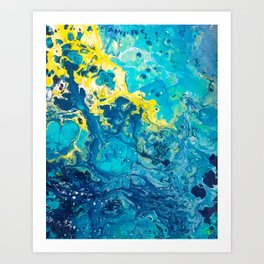 Waves from Space Art Print