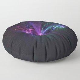 Fireworks Fractal Floor Pillow
