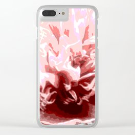 Floral shapes and colors Clear iPhone Case