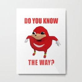 Do You Know The Way Metal Print