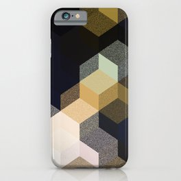 CUBE 1 GOLD & BLACK iPhone Case