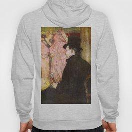 "Henri de Toulouse-Lautrec ""Maxime Dethomas At the Ball of the Opera"" Hoody"