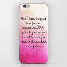 Jeremiah 29:11, Encouraging Bible Verse iPhone Skin