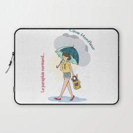 Love Honfleur-Le parapluie normand Laptop Sleeve