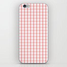 Large Lush Blush Pink and White Gingham Check iPhone Skin
