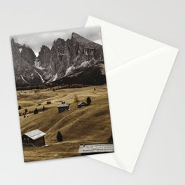 seiser alm landscape Stationery Cards