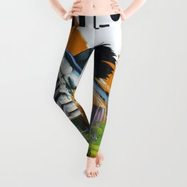 Vintage poster - Miami and Fort Lauderdale Leggings