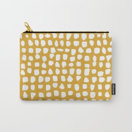 Dots / Mustard Carry-All Pouch