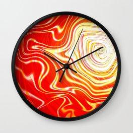 Radiating Waves Warm Wall Clock