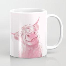 Highland Cow Pink Coffee Mug
