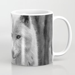 White Wolf in the Forest Coffee Mug