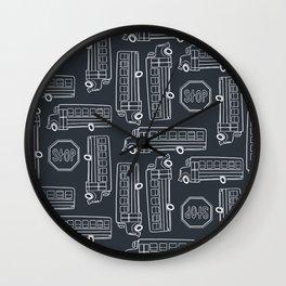 Bus Pattern 3 Wall Clock