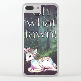 Oh what fawn! Clear iPhone Case